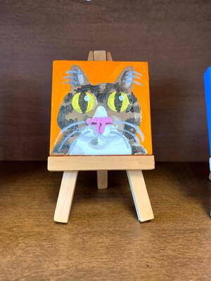 Original Mini Cat Face Paintings-Diane Dyals
