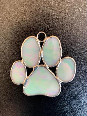 Glass Paw Ornament-Julie Cooper