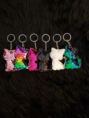 Cat Sequin Key chain