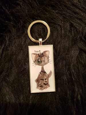 Special Needs Kitty Keyring or Necklace