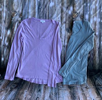 Mila blue and lilac long sleevet-shirts