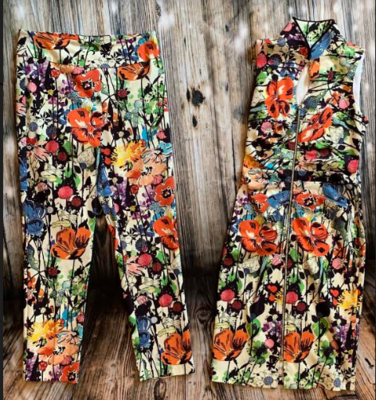 Joseph Ribkoff small flower slim pants style #191666
