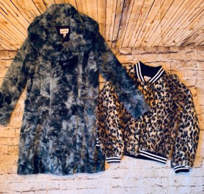 Joseph Ribkoff Faux fur Leopard bommer