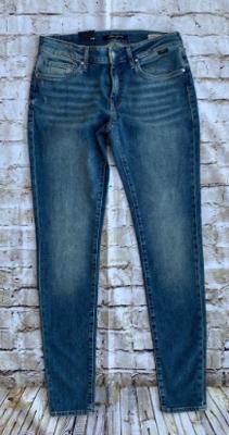Mavi adrianna mid distressed vintage jeans