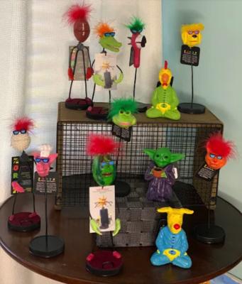 Zortz closepin puppets