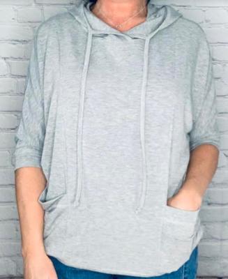 Sinuous Grey Hoody