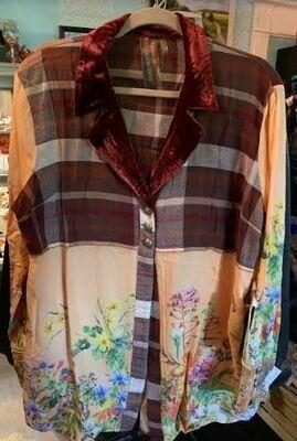 Aratta plaid horse blouse