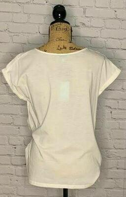 Nostalgia ivory tie shirt
