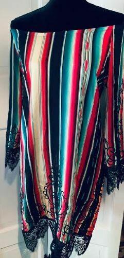 L&B black serape embroidered dress
