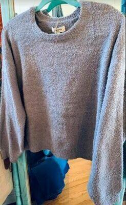 Sweet Lovely cozy grey sweater