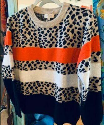Sweet Lovely lep/orange sweater