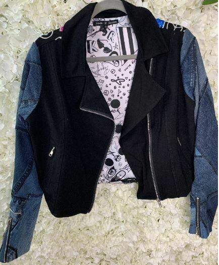 Rock 'N Karma biker painted jacket