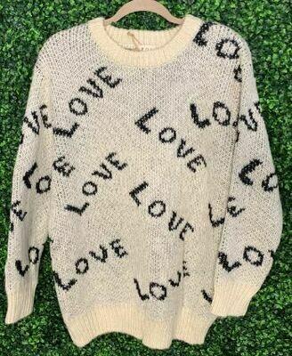 Pol cream love sweater