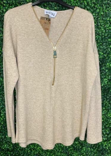 Joseph Ribkoff long sweater zip