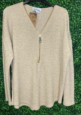 Joseph Ribkoff long sweater zip
