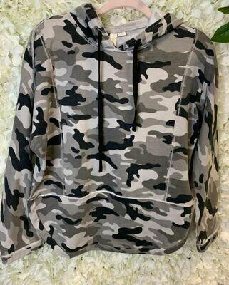 True Blue Inc camo hoodie