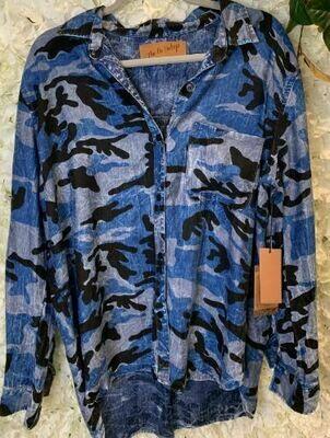 Nu Vintage blue Camo shirt
