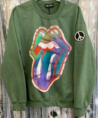 sojara olive mouth sweatshirt
