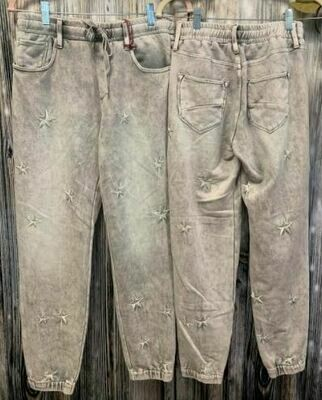 Driftwood star grey marble joggers