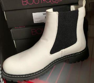 Corkys white boot