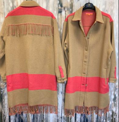 vilagallo pink/tan long coat