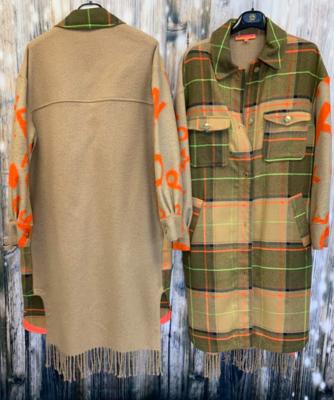 Vilagalio plaid/tan long coat
