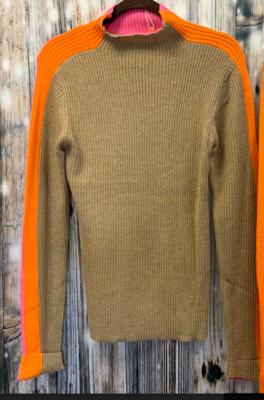 vilagallo tan/pink/org sweater