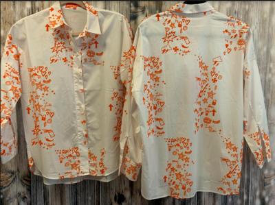 vilagallo white/orange writing shirt