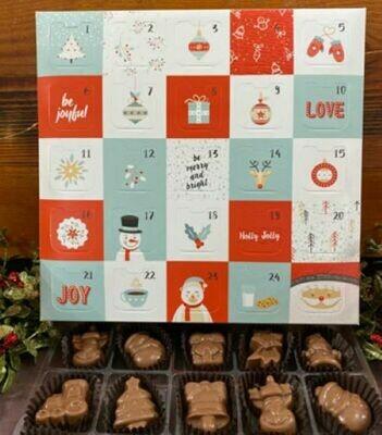Solid Chocolate Christmas Shapes Advent Calendar