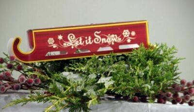 Let It Snow Christmas Sleigh Chocolate Truffles