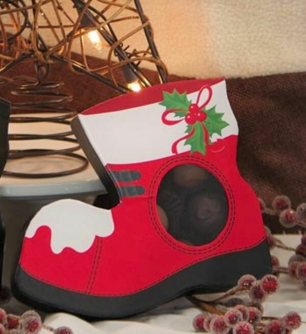Christmas Boot Chocolate Truffles