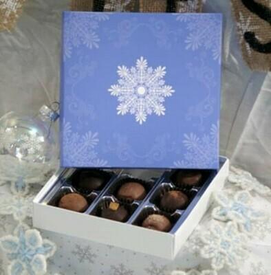 Winter Snowflake Truffle Box
