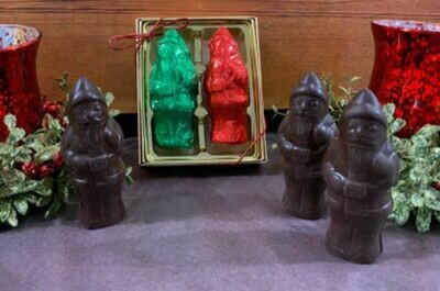 Chocolate Peanut Butter Santa