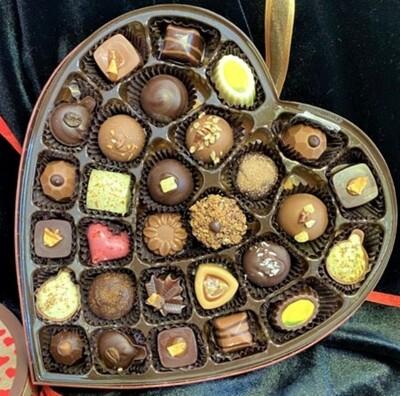 Chocolate Love Heart Box (29pc Grand Assortment)