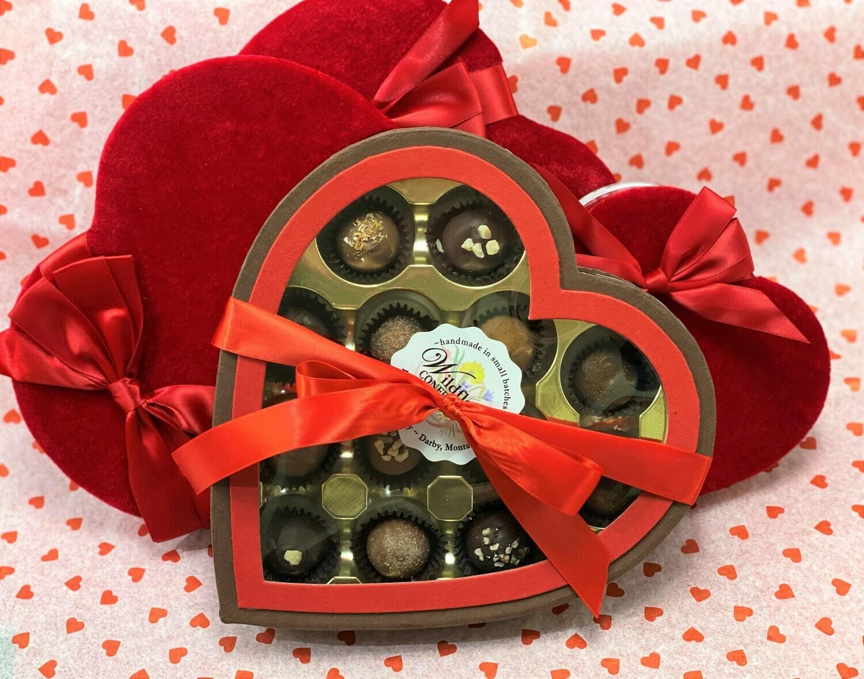 Window Heart Box (13pc Hand-Dipped)