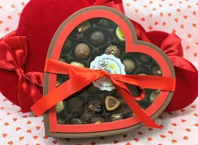 Window Heart Box (29pc Grand Assortment)