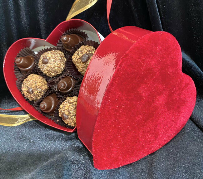 Valentine Toffee Truffles & Caramel Cones (9pc)