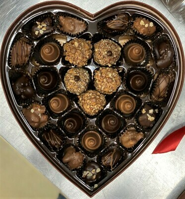 Valentine Toffee Truffles, Caramel Cones & Nuts