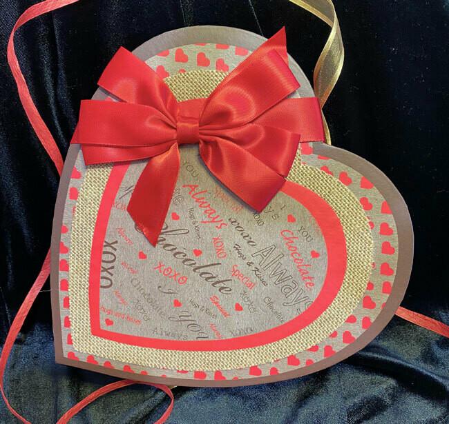 Chocolate Love Heart Box (13pc Hand-Dipped)
