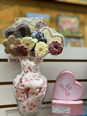 Heart Chocolate-on-a-Stick
