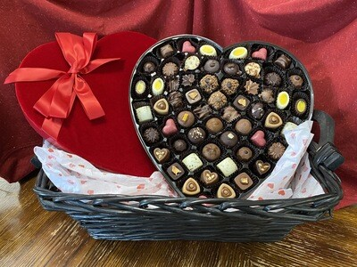 Velvet Heart Box (57pc with Nuts)