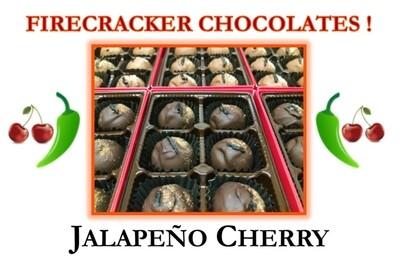 Jalapeño Cherry Firecracker Chocolates