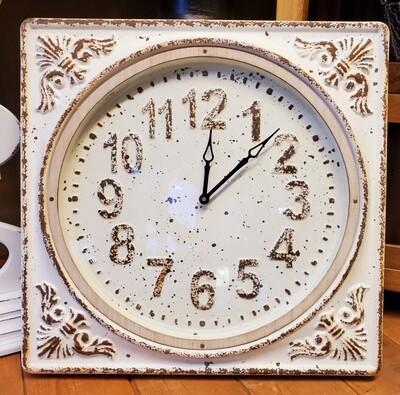 Rustic White Clock