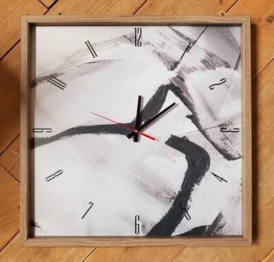 Black & White Brushed Clock