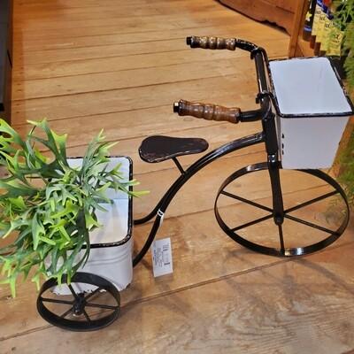 Enamel Bicycle Planter