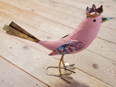 Pink Bird Garden Stake