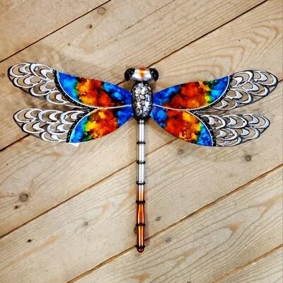 Metal Dragonfly Wall/Garden Art - Rainbow