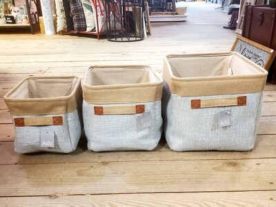 Lined Fabric Storage Totes