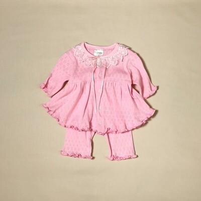 Organic Pink Ruffle Dress