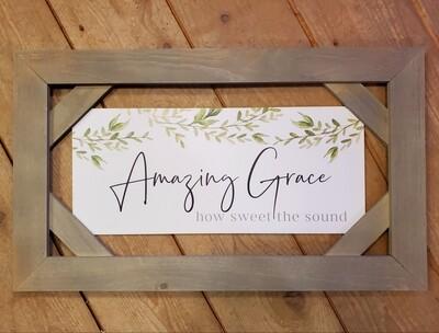 Amazing Grace - Wood Sign